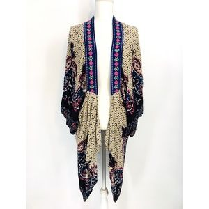 Flying Tomato Asymmetrical  Boho Waterfall Kimono